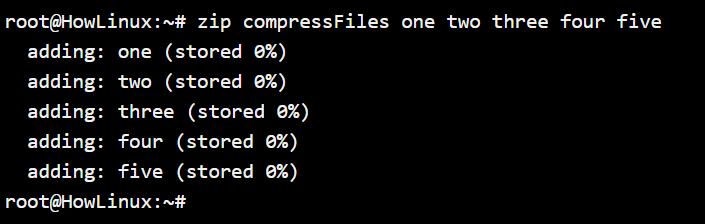 Compressing Files Using Zip
