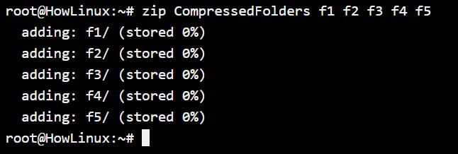 Compressing Multiple Folders