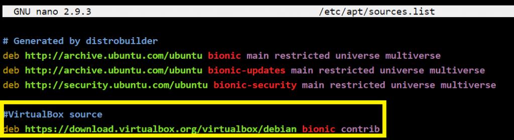 VirtualBox Sources