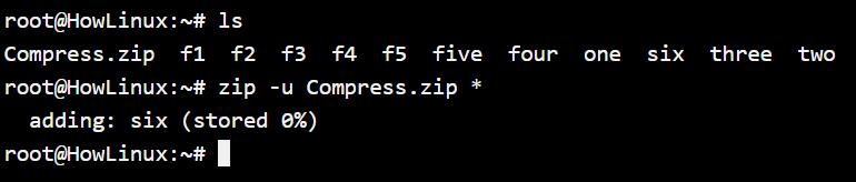 Zip Update File Option