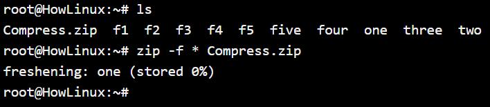 Zip File Freshening F Option
