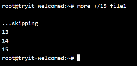 Search String More Command