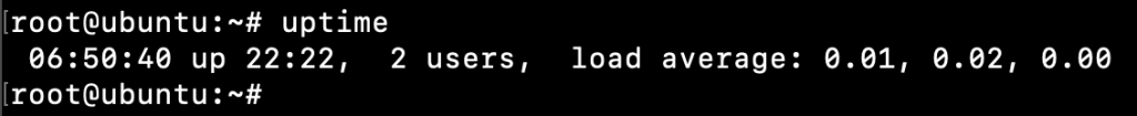Uptime Command Linux Output