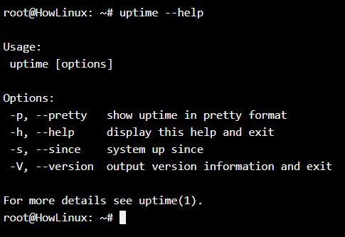 Uptime Help
