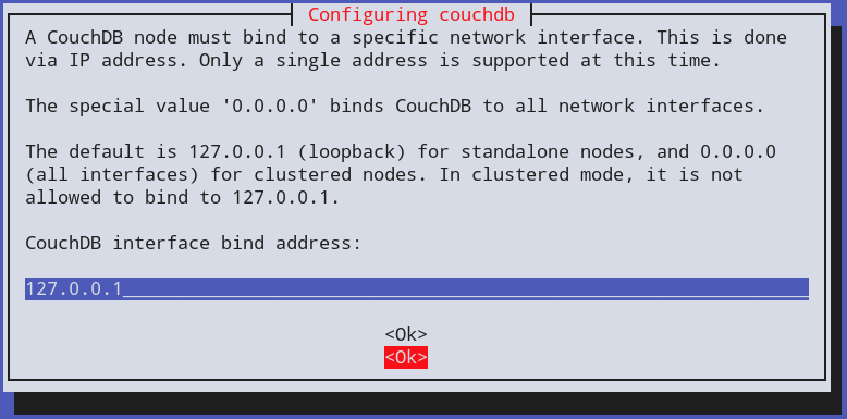 Couchdb Ubuntu Interface