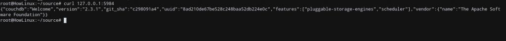 Couchdb Ubuntu Verify Installation