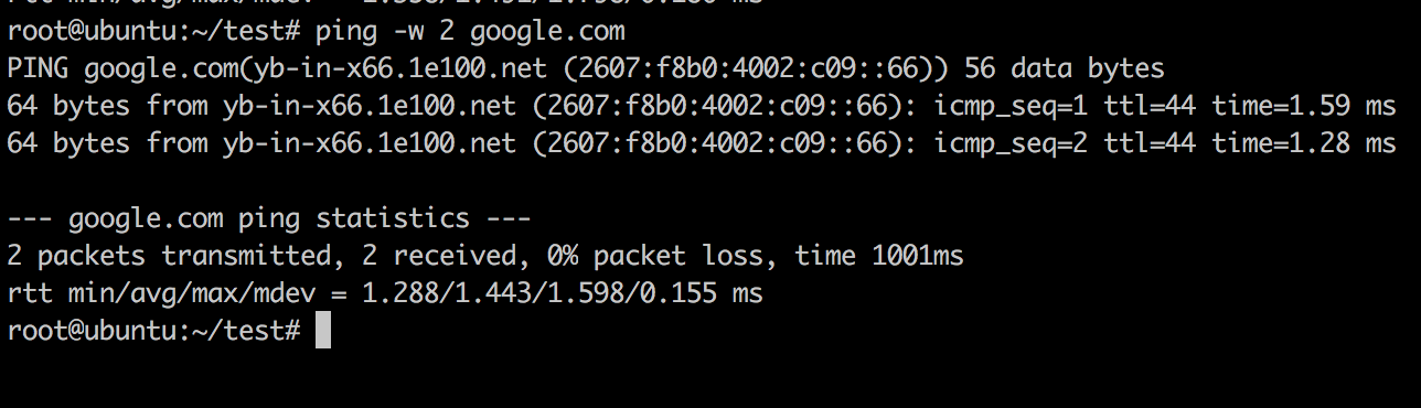 Ping Timeout Example