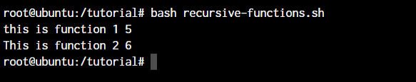 Bash Recursive Functions