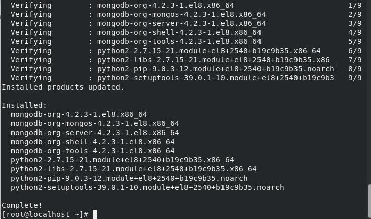 Install Mongodb Output Step5