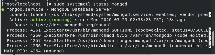 Mongod Status Step6