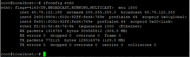 Check Ip Address Using Ifconfig Eth0