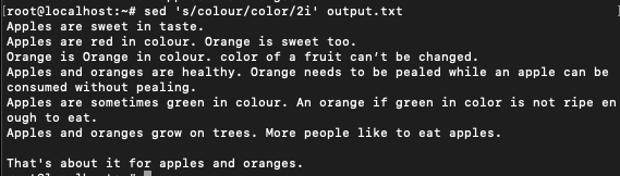colour selective occurrence