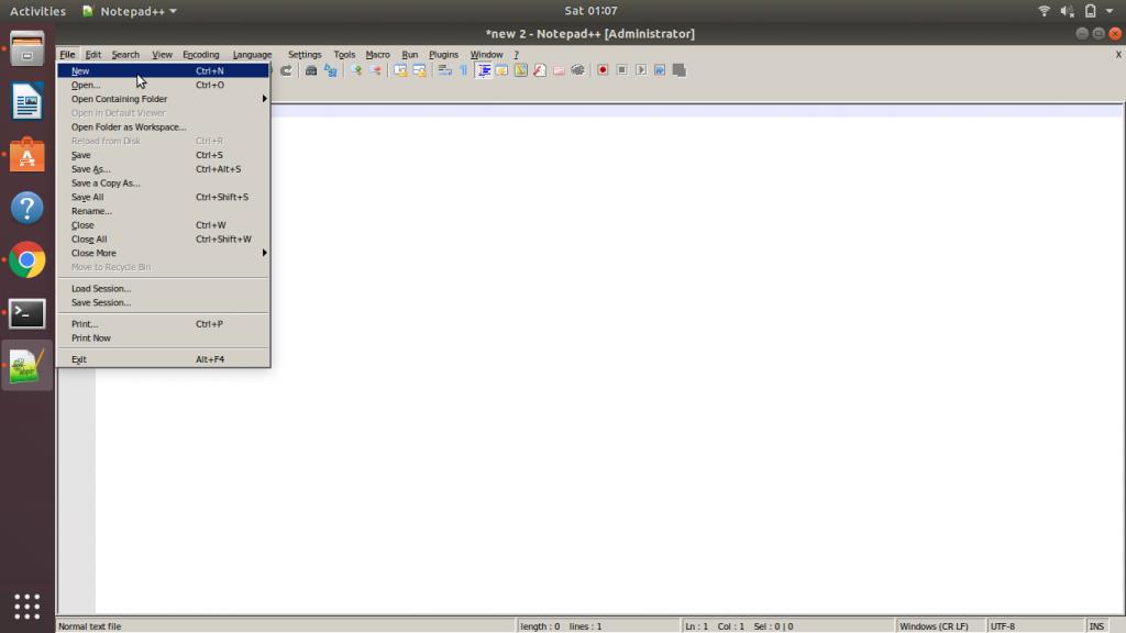 Notepad Create New