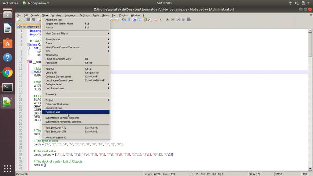 Notepad Function List