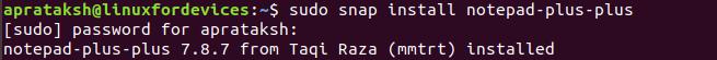 Notepad Snap Install