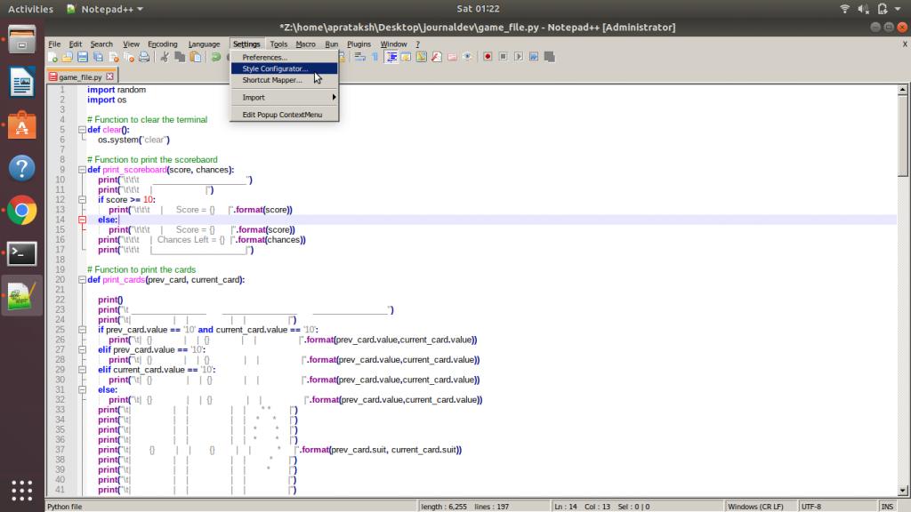Notepad Style Configurator