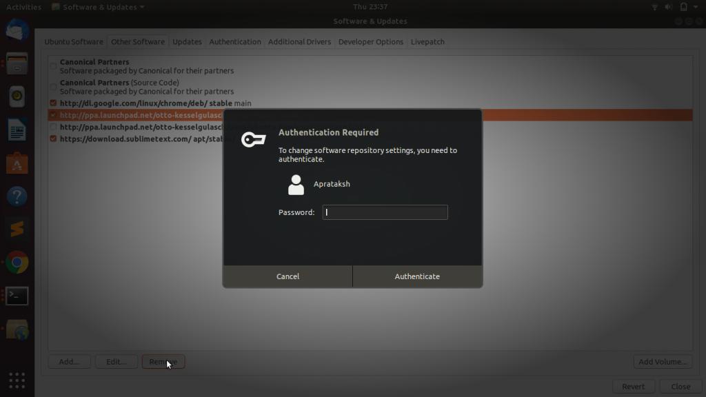 Remove Repo GUI2