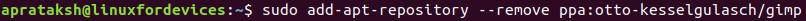 Remove Repository Apt