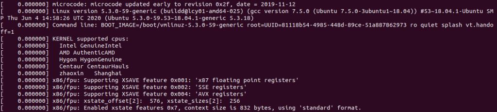 Dmesg Command Basic Output