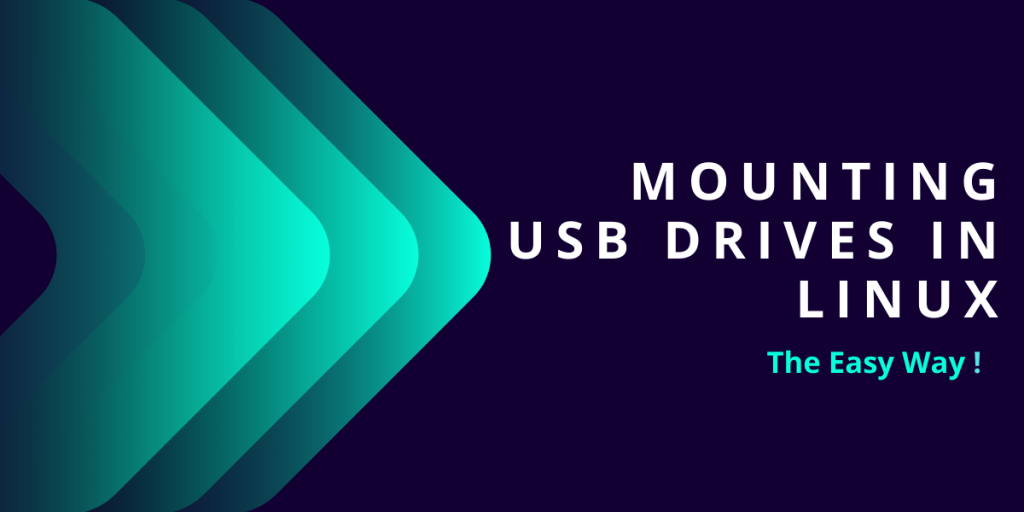 Mounting USB Drives In Linux