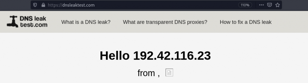 DNS Leak Test With Proxy Chains Enabled