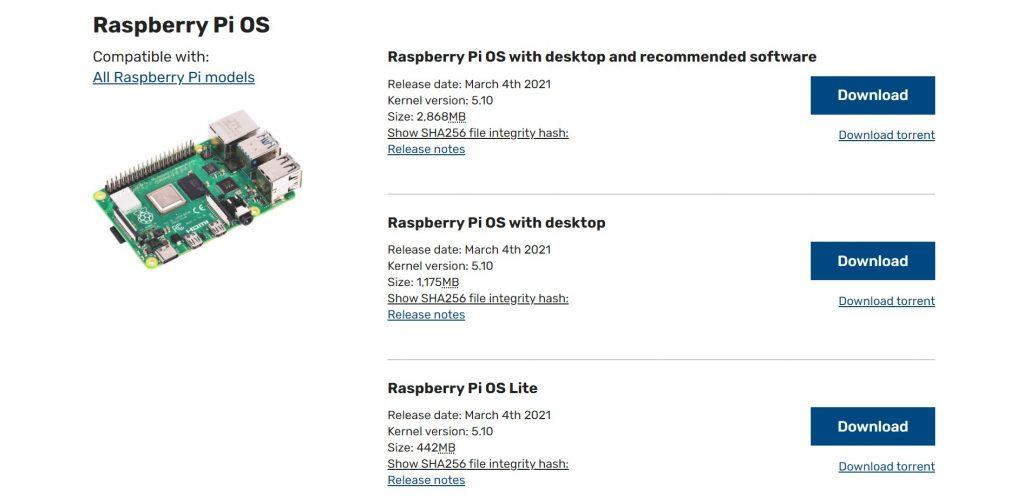Raspbian Downloads