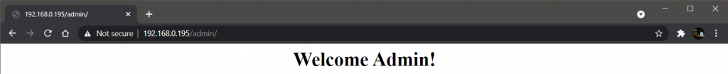 Accessing Admin With 192.168.0.149 User