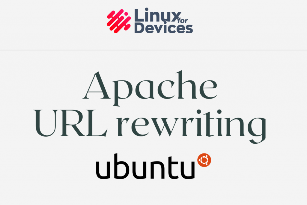 Apache URL Rewriting