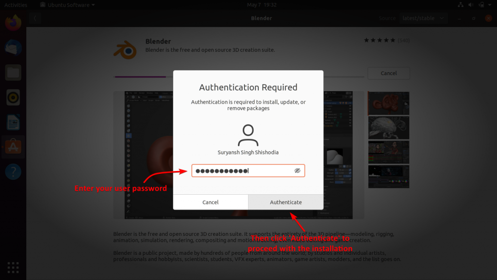 Authenticate To Proceed With Installation