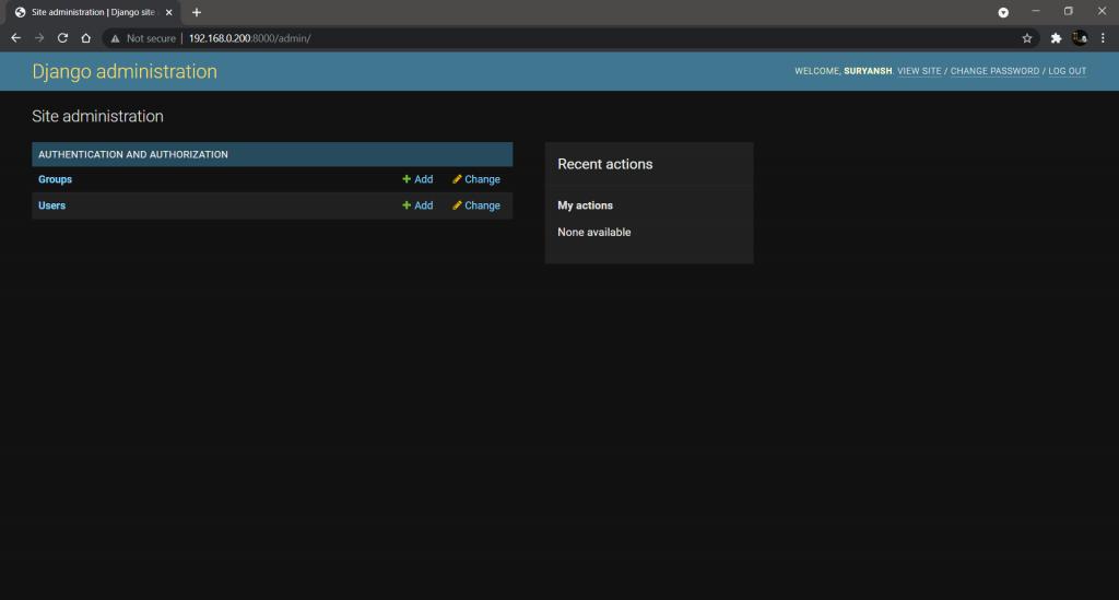 Django Admin Interface