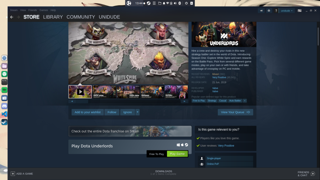 Downloading A Game In Steam