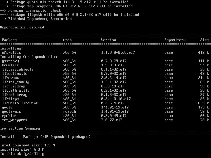 Installing NFS Client