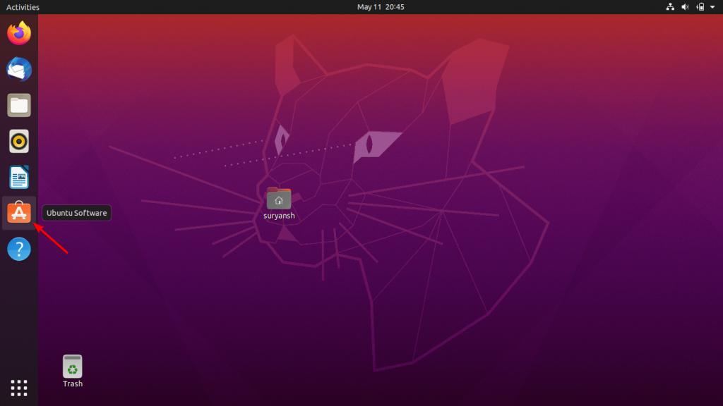 Launch Ubuntu Software Store