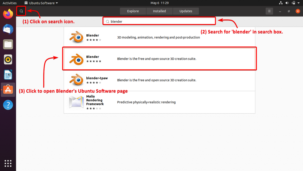 Search For Blender In Ubuntu Software 2