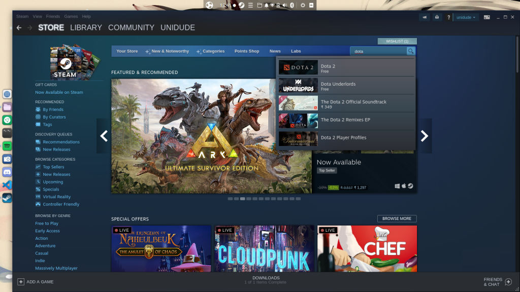 Searching For A Game On Steam